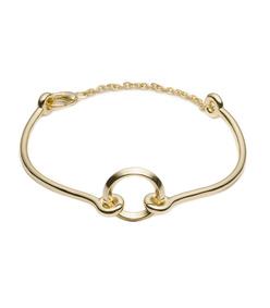 gold o-ring chain choker