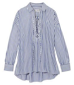 blue 'shiloh' striped v-neck shirt