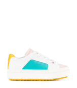 colorblock lace-up sneakers