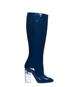 ShopBazaar Nicholas Kirkwood 'Carnaby' Patent Plexi Knee Boot MAIN
