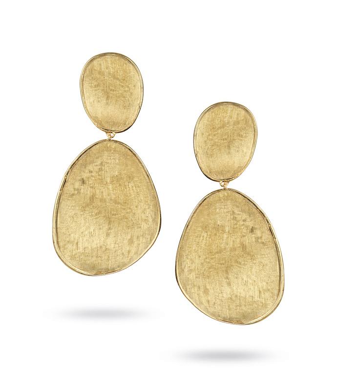 lunaria gold large double drop earrings