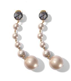 pearl drop resin earrings