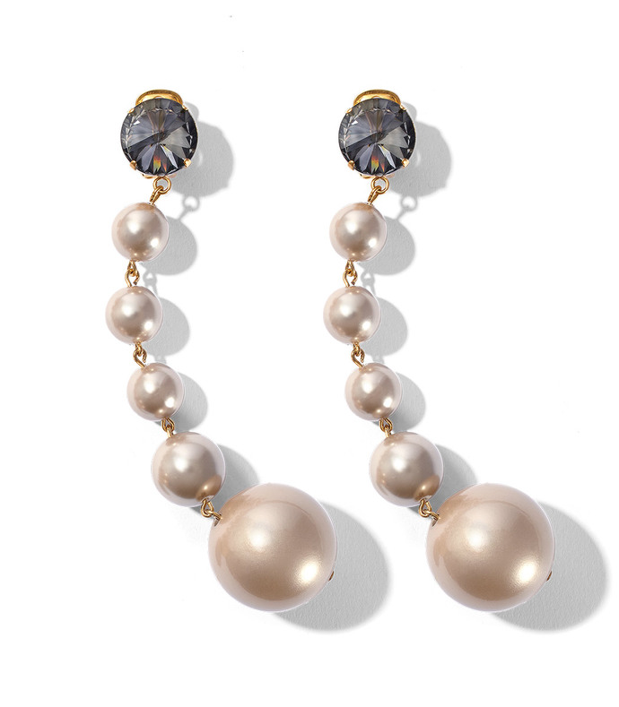 pearl drop resin earrings