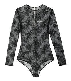 black & white lace bodysuit
