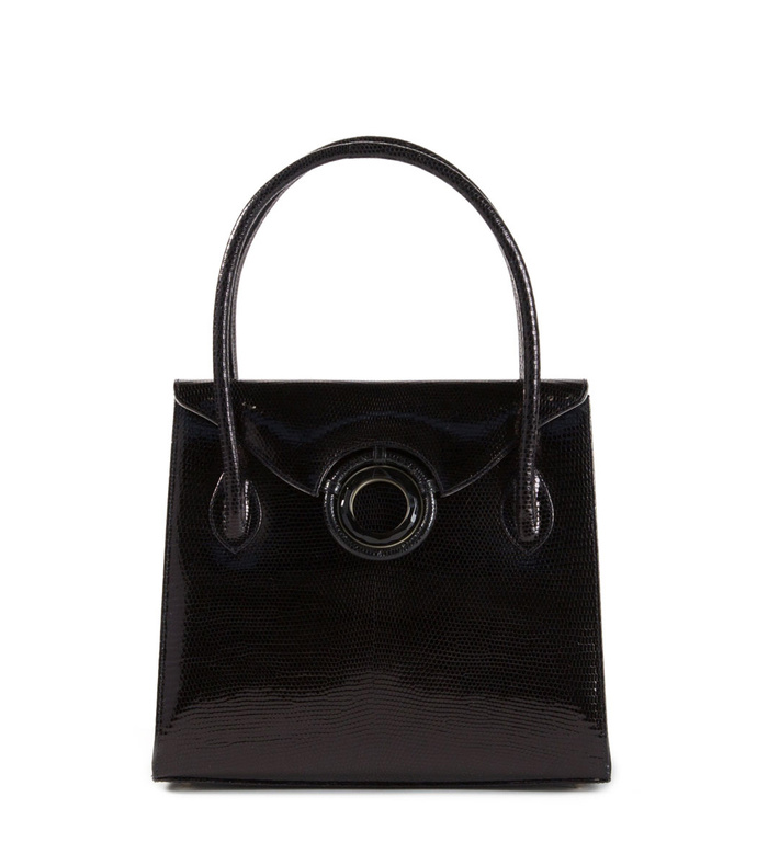 thompson 'o' tote, black lizard
