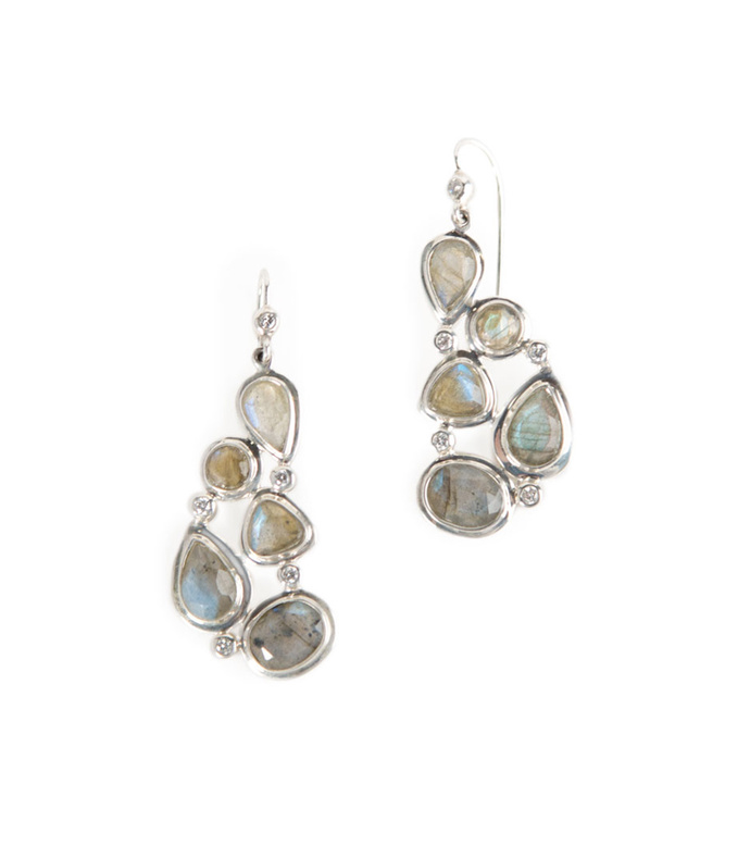 mosaic 5-stone earrings