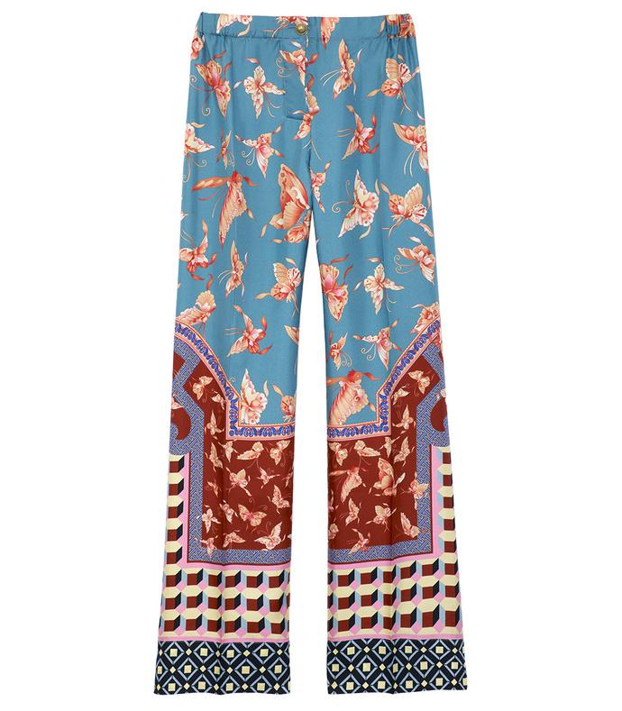 multicolor printed pajama trouser