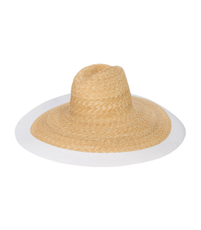 white mimi straw hat