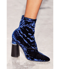 ShopBazaar 3.1 Phillip Lim Royal Blue 'Kyoto' Stretch Boot FRONT