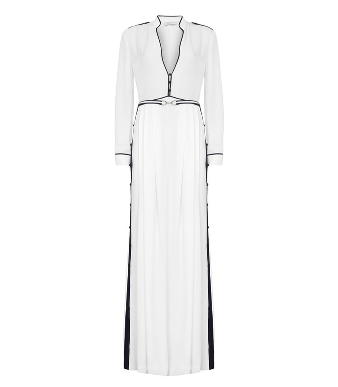 ivory & navy 'russell' gown