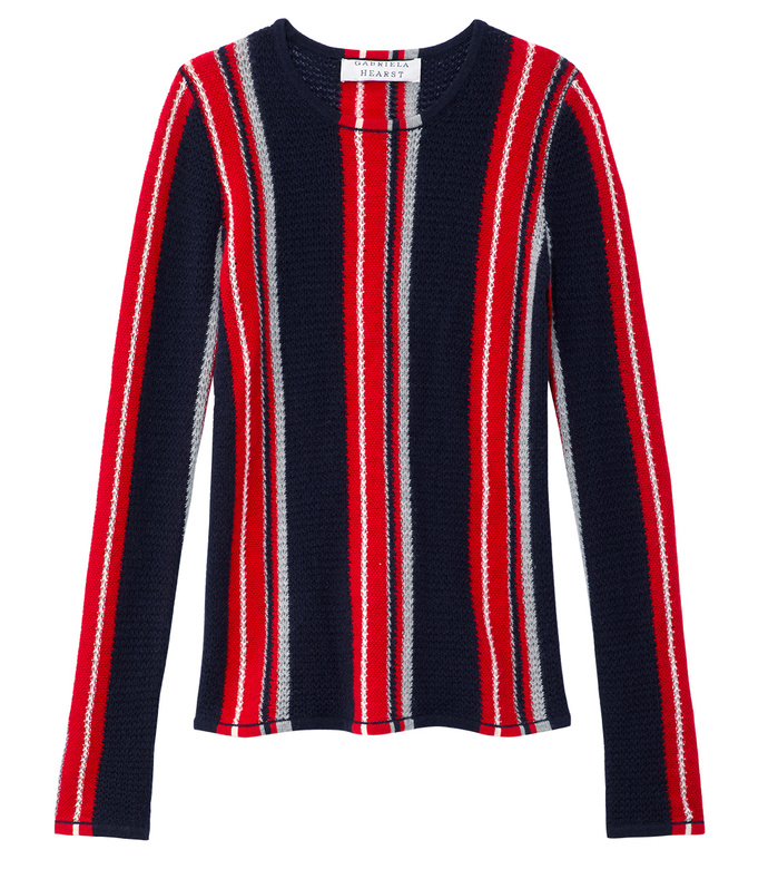 navy & red stripe 'lucan' knit