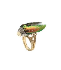 gold scarab ring