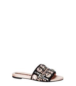 ShopBazaar Rochas Embellished Flat Sandal MAIN