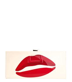 ShopBazaar Roger Vivier Kiss Print Clutch MAIN