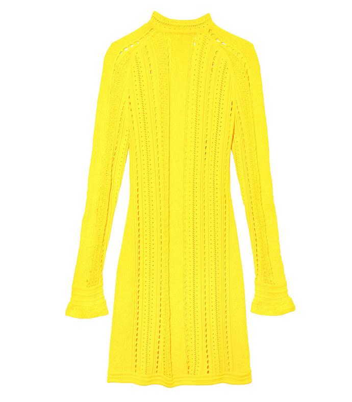yellow 'pointelle' lace dress