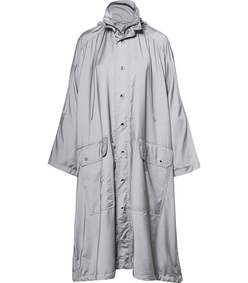 opera oversized printed reflective shell raincoat
