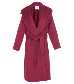 alpaca trench coat with martingale belt