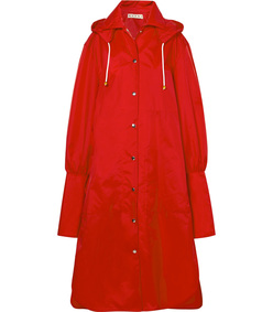 oversized hooded shell raincoat