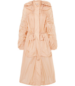 oversized hooded shell parka