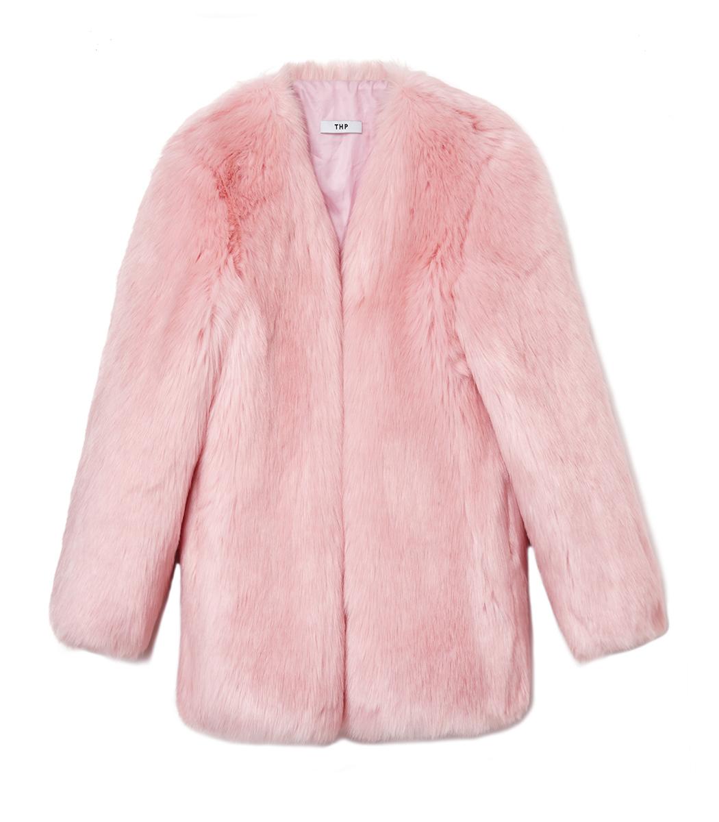 ShopBazaar THP Baby Pink Boxy Coat MAIN