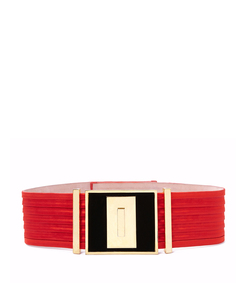 ShopBazaar Balmain Ruched Wide Belt MAIN