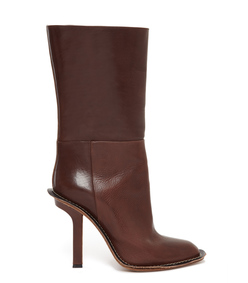 ShopBazaar Marni Brown Leather Stiletto Boot MAIN