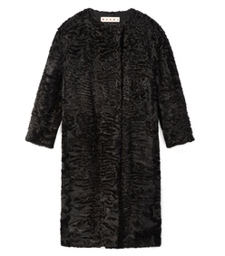 ShopBazaar Marni Dark Raisin Persian Fur Coat MAIN