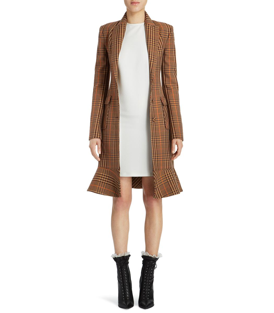 ShopBazaar Altuzarra Cooper Houndstooth Coat FRONT