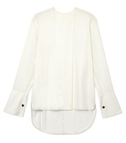 ShopBazaar Marni Ivory High-Low Blouse MAIN