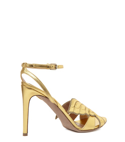 ShopBazaar Valentino 'Angelicouture' Metallic Stiletto FRONT