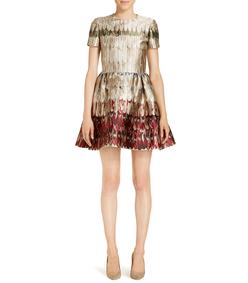 ShopBazaar Valentino 'Angel Wings' Brocade Dress FRONT