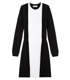 ShopBazaar Valentino Black & White Colorblock Dress MAIN