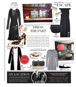 ShopBazaar Valentino Black & White Colorblock Dress FRONT