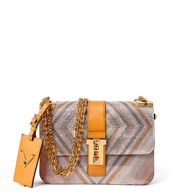 ShopBazaar Valentino Embellished Rockstud Shoulder Bag MAIN
