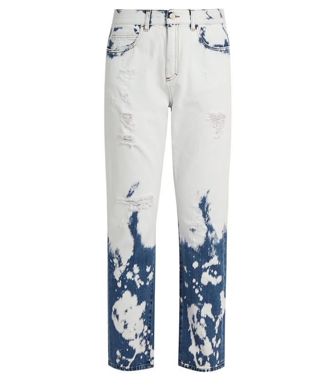 Bleached mid-rise boyfriend jeans SBZ1074903