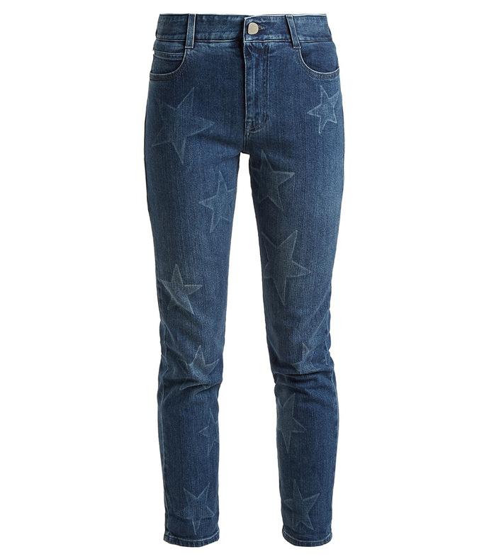 Star-print mid rise skinny jeans SBZ1155148