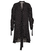 black & white 'merbella' asymmetric dress