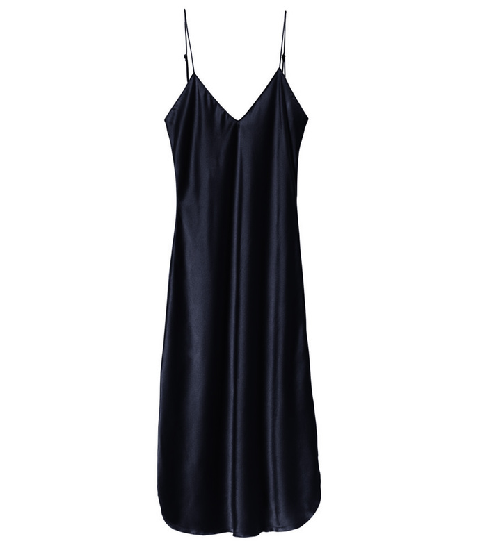 dark navy cami dress