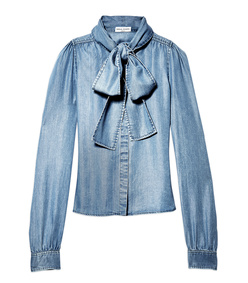 chambray scarf top
