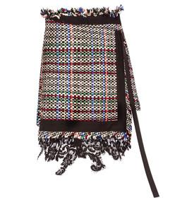 multicolor 'summer' tweed skort
