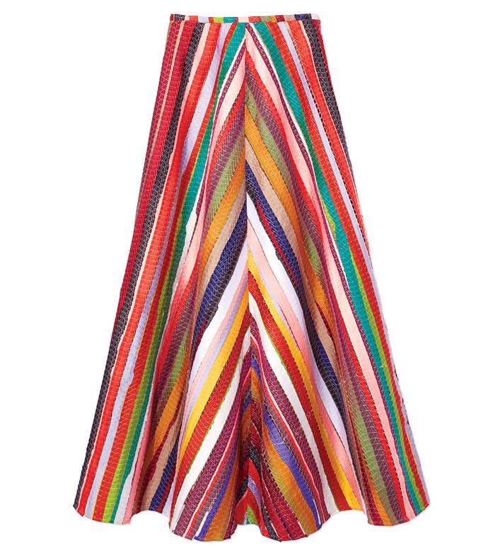 'melted rainbows' maxi skirt