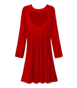 red heart cut-out dress