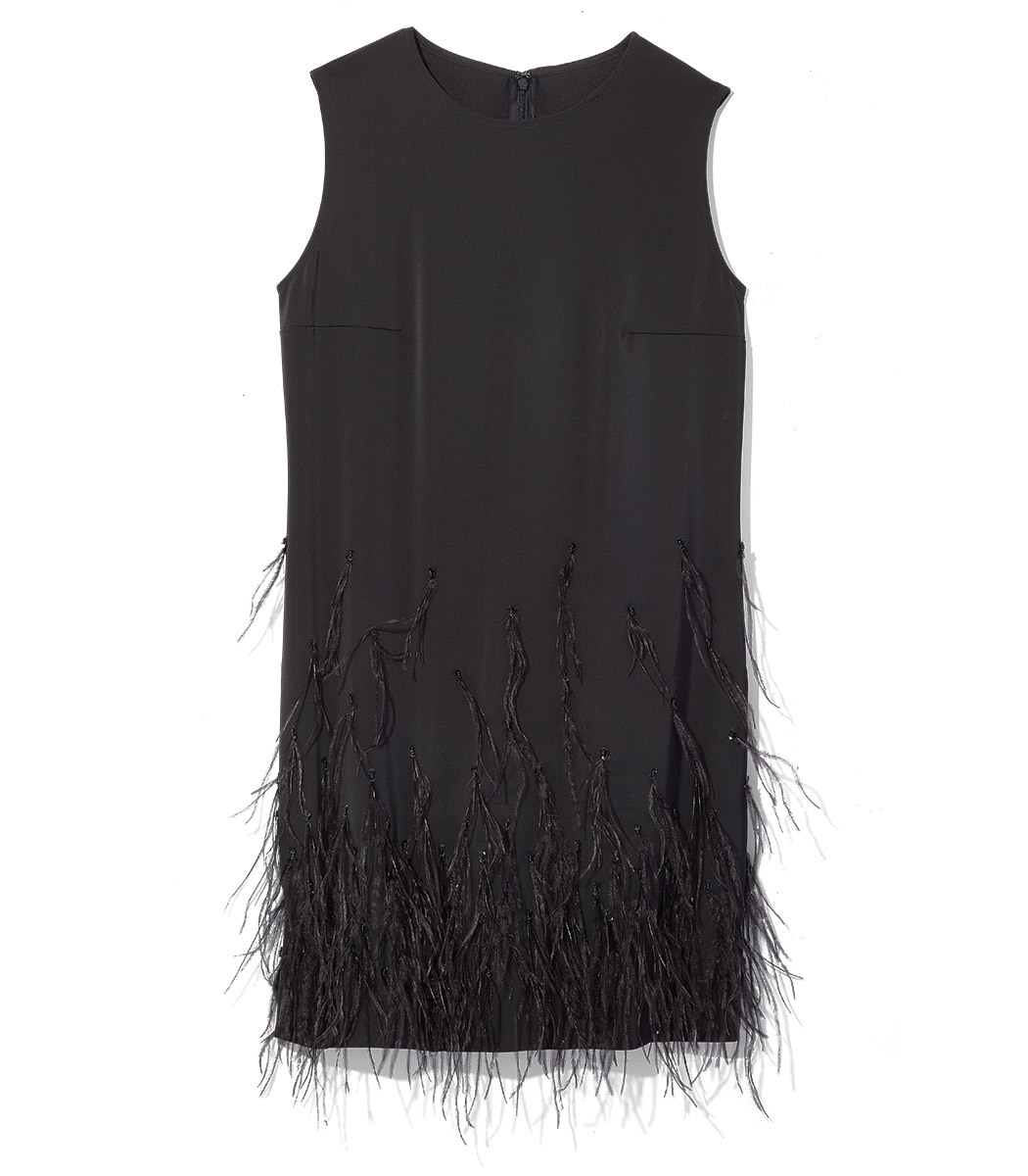 Black Ophelle Feather Dress