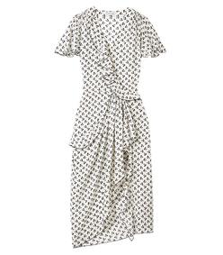 black & white 'mesilla' cherry print dress