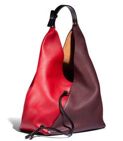 red multi sling shoulder bag