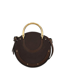 carbon brown small pixie handle bag