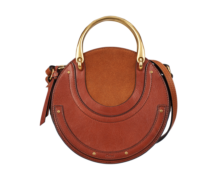 brown small pixie handle bag