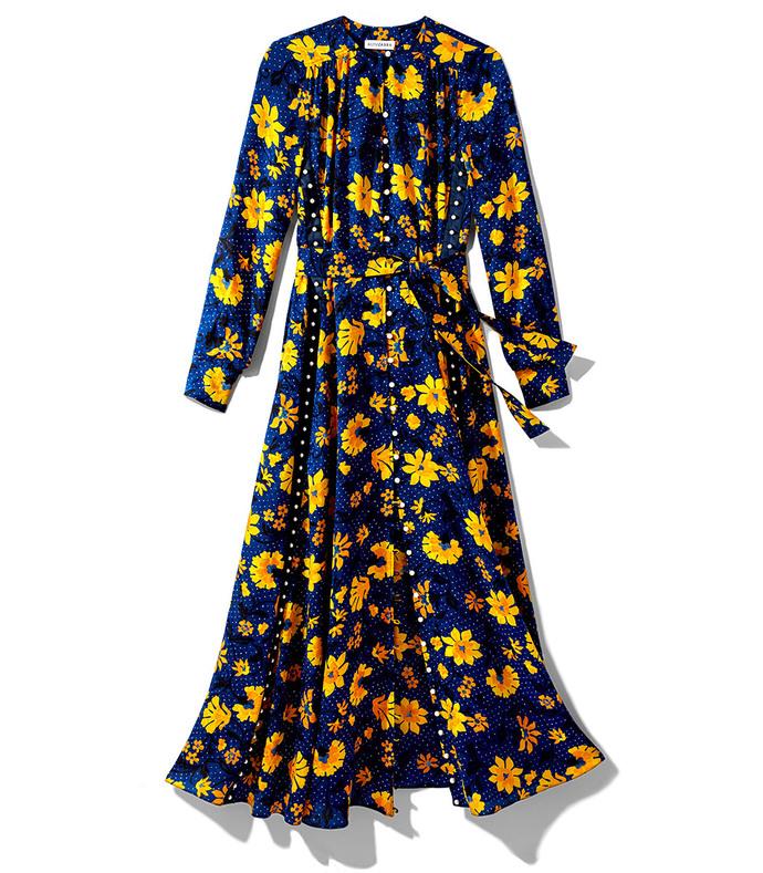blue & yellow filipa dress