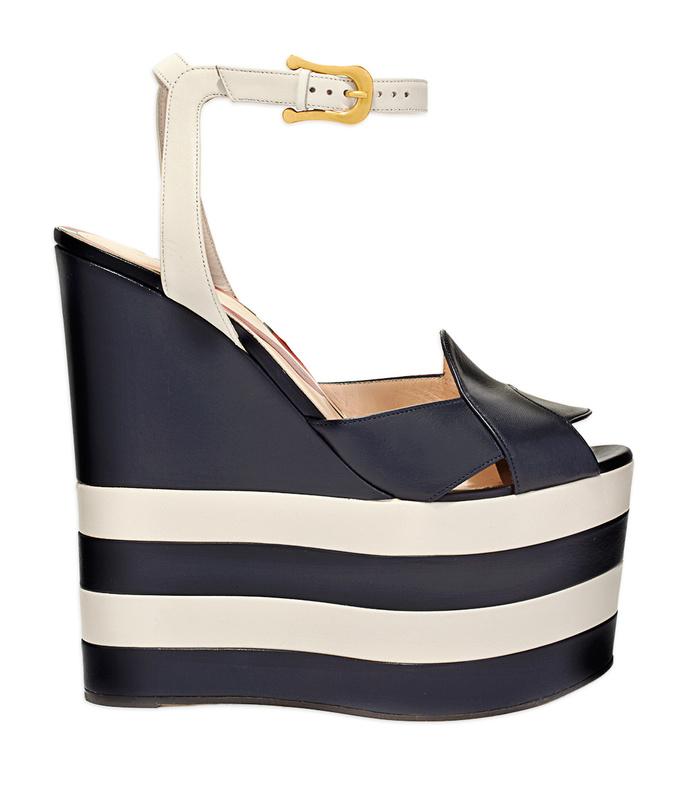 black & white 'sally sandal