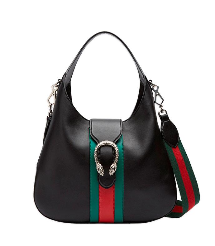 black 'dionysus' hobo leather bag